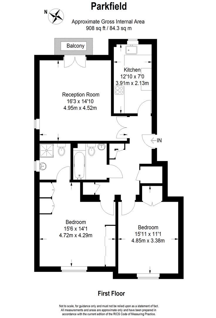 Floorplan for The Downs, Wimbledon